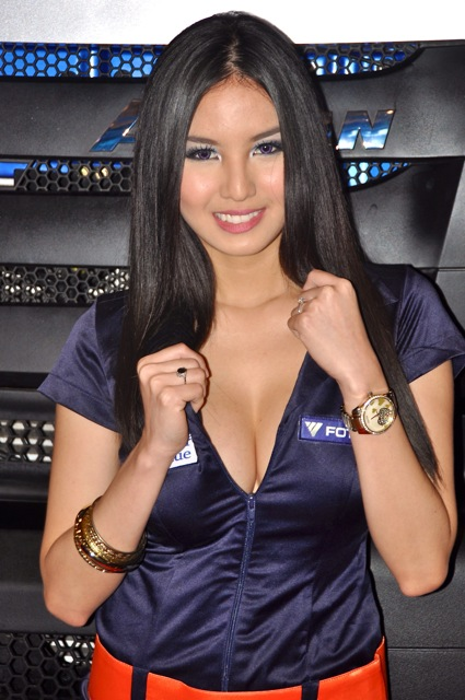 MIAS 2011: Model Abby Poblador poses for Foton