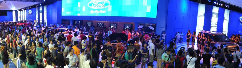 Ford had the biggest pavilion with 1,000 m2 of exhibit space